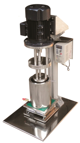 Lab Basket Mill with 0.8 Gal 3L) container - Manual Lift.