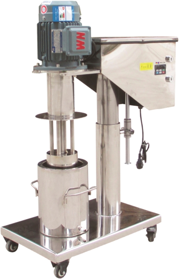 Lab Basket Mill with 1.3 Gal (5L) container - Electric Lift.