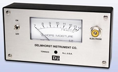 """Delmhorst G-34 Hops Moisture Meter with H-4, 830-5 12"""" prod.  with Carrying Case"""