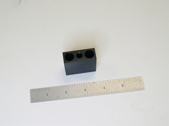Delmhorst Gauge Block - Limits Penetration of 26-ES with 496 Pins to 3/4""
